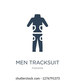 men tracksuit icon vector on white background, men tracksuit trendy filled icons from Fashion collection, men tracksuit vector illustration