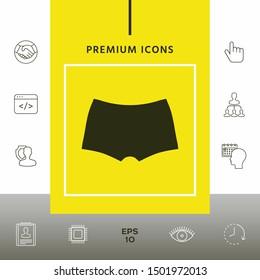 Men underwear, the silhouette. Menu item in the web design, elements for your design