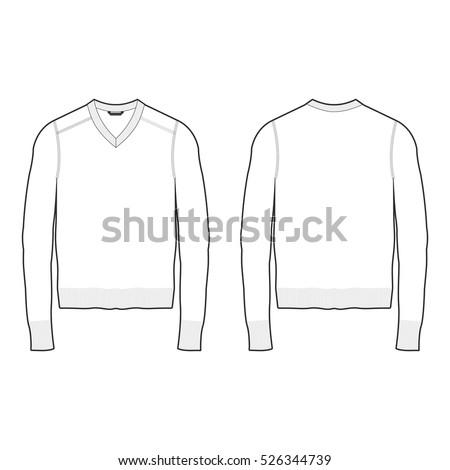 men vneck sweater template stock vector royalty free 526344739