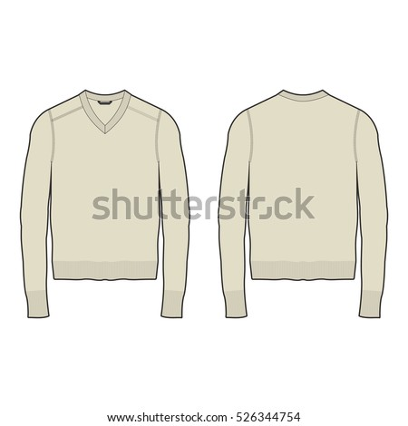 men vneck sweater template stock vector royalty free 526344754