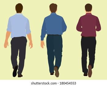 Men Walking Away