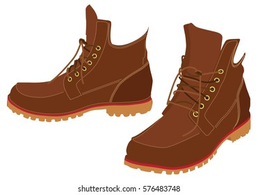 Men winter boots. Hiking boots.