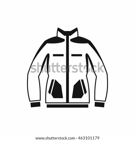 161b92578ca1 Men winter jacket icon in simple style isolated on white background.  Clothing symbol - Vector