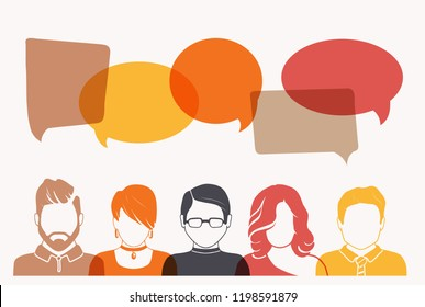 Men and Women avatar profile picture set. Businessman, coworkers, team, think, Question. Idea, Brainstorm. Business concept vector illustration.