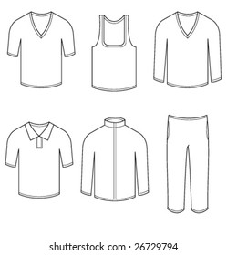Men & women blank casual clothes and sportswear