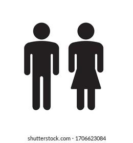 men and women icon prefer to toilet door or toilet symbol, etc