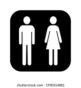 Men women icon - Toilet Restroom Sign. International sign for Restroom on white background color editable