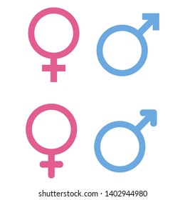 men and women sigs scribbled and rounded vector