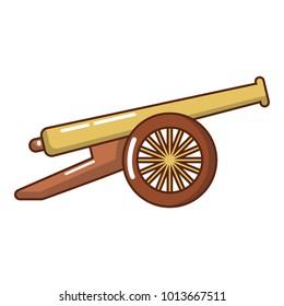 Menacing cannon icon. Cartoon illustration of menacing cannon vector icon for web.