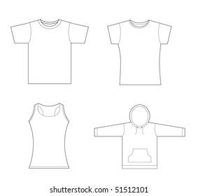 men-girls t-shirt, sweatshirt template