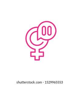 menopause icon, line vector art