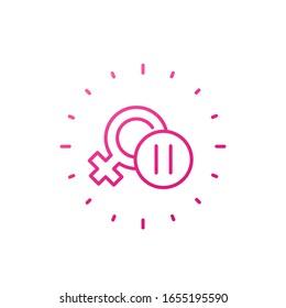 menopause icon on white, line