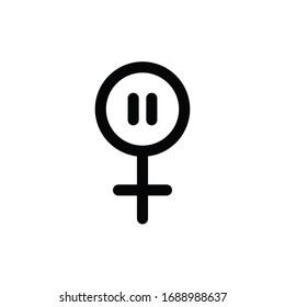 menopause line icon, vector illustration
