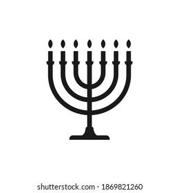 Menorah icon design isolated on white background