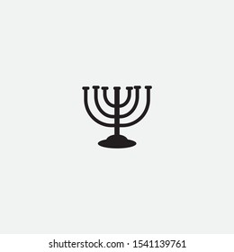 menorah icon graphic element Illustration template design