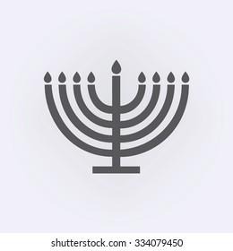 Menorah symbol . Vector illustration