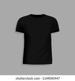 men black tshirt realistic mockup short stock vector royalty free
