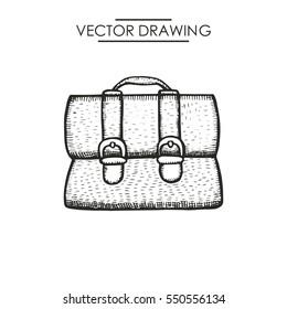 men's briefcase picture. vector illustration