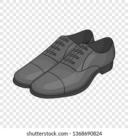 Mens classic shoes icon in cartoon style isolated on background for any web design