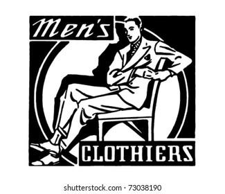 Men's Clothiers - Retro Ad Art Banner