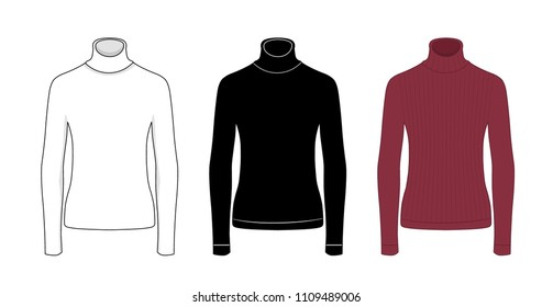 Men's clothing set in white, black and red colors