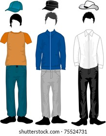 Men's fashion - clothes and hairstyles