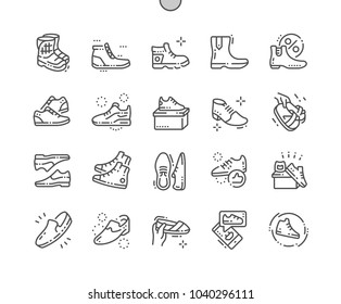 Men's footwear Well-crafted Pixel Perfect Vector Thin Line Icons 30 2x Grid for Web Graphics and Apps. Simple Minimal Pictogram