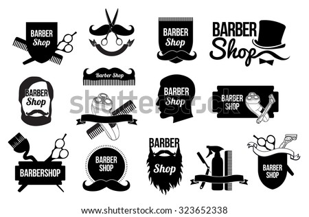 Mens Haircut Logo Barber Shop Logo Design Stock Vector Royalty Free