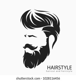 mens hairstyle and hirecut with beard mustache