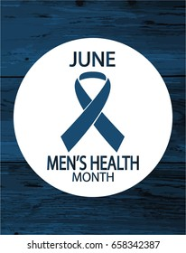 Men's Health Month Card or background. vector illustration.