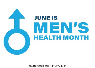 Men's Health Month in June. Poster, card, banner, background design. Vector illustration eps 10