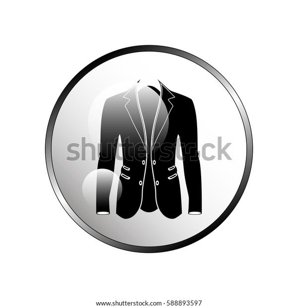 Men's jacket icon.