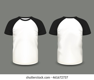 Blank T Shirt Raglan Mockup Images Stock Photos Vectors