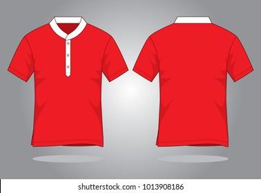 Red Collar T Shirt Template