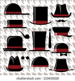 Men's retro hats set
