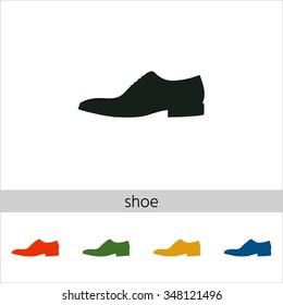 Men's shoe icon. Set of varicolored icons.