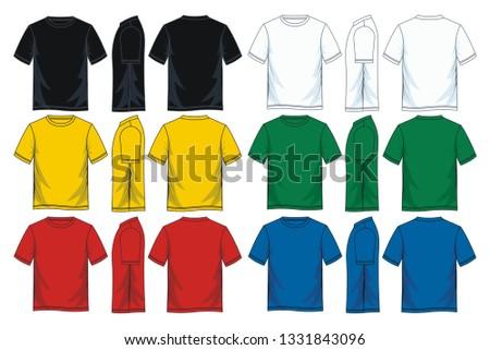 cad67e22a76 Mens Short Sleeve Round Neck Tshirt Stock Vector (Royalty Free ...