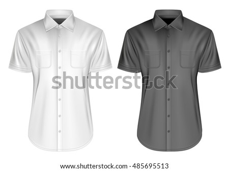 11743c97e40fae Men s short sleeved formal button down shirts. Fully editable handmade  mesh