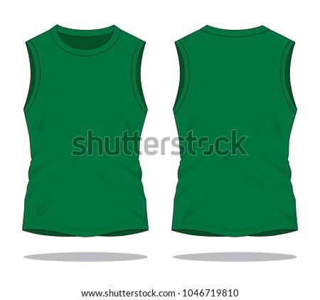 c00a66207b5dc Royalty-free stock vector images ID  1046719810. Men s Sleeveless Dark  Green Shirts   Tank Tops - Vector