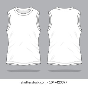 Men's Sleeveless White Shirts  & Tank Tops