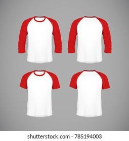 49e13526 Men's slim-fitting short sleeve baseball shirt set. Black Mock-up design  template