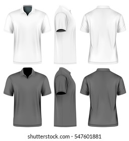 5aa80928f8f Men s slim-fitting short sleeve polo shirt. Front