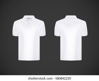 569ae1f4a Men's slim-fitting short sleeve polo shirt. White polo shirt mock-up design