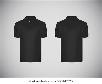 Polo shirt template front and back views vector image.