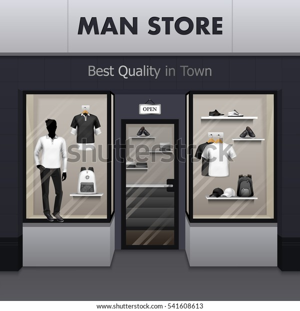 0851aa09 Mens sportswear workout and outdoor active wear best quality fashionable  clothes store window display street view