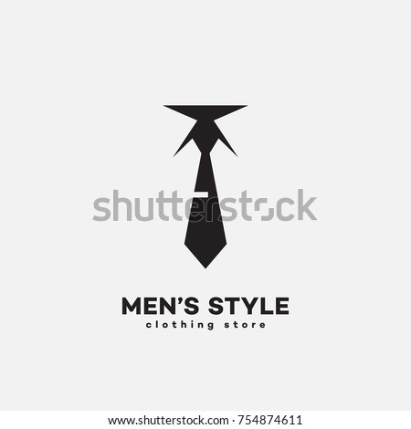 mens style logo template design tie stock vector royalty free