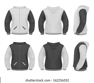 Men's Sweater with zipper and hoddie