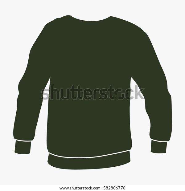 Men's sweatshirt vector icon.