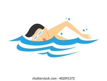 Men's Swimming, vector