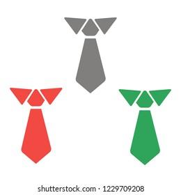 Men's tie icon. vector